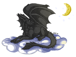 Dragon Pixel comm by nightspiritwing