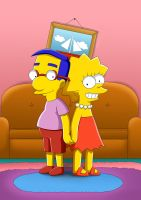 Milhouse and Lisa by RUinc