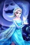 Elsa and Marshmallow by X-Chan-