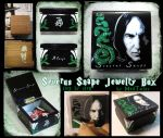 Severus Snape small painted glitter Jewelry box by Vikrapuff