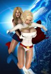 Powergirl and Supergirl by prizm1616