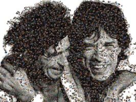 Rolling Stones photo mosaic by Mosaikify