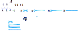 sonic as goku sheet(still in work) by jaquille1