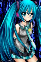 Miku Lineart by: Cherry-Face by Hero-of-Awesome