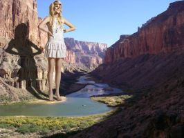 Pixie Lott in the Grand Canyon by Accasbel