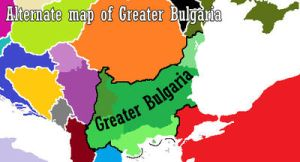 Alternate Map of Greater Bulgaria by DragonLlabroe