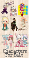 Characters / Adopts For Sale / Trade  [ OPEN ] by xyriae