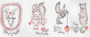 Animals Anonymous- Christmas greetings by Iseldelth