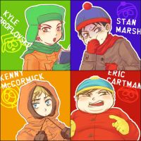 SP : Kyle,Stan,Kenny and Eric by karaage98