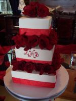 Rose wedding cake by see-through-silence