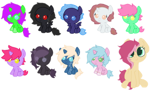 Leftover Adopts :: Freebies and Lowered Prices by PonyPartyAdopts