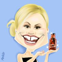 Digital caricature Anna Paquin by marcocano