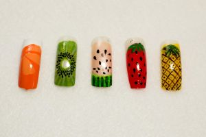 Fruit Nail Art by elvaniel