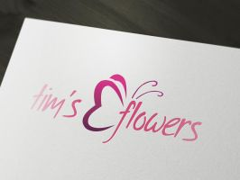 Flower - Florist Logo Template -PSD by squizmo