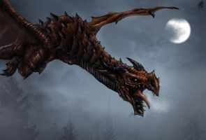 Skyrim Ancient Dragon by TheRisingSoul