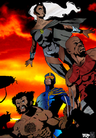 X-MEN and Luke Cage Color by timmywheeler