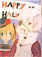 soul and Maka happy Halloween by IleenHirogushie