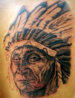 Native American Chief Tattoo by TheMessiah666