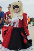 San Diego Comic-Con 2013 Gothic Lolita Harley Quin by CosplayMedia