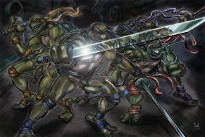 TMNT vs. Shredder by ChadFeldpausch