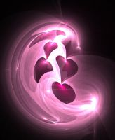 Pink Hearts by FractalEuphoria