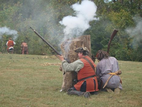 The Shawnee and British attack by Glaisne
