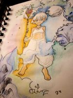 Color drawing [element water] by fabioptdraw