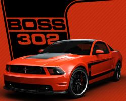 Orange BOSS 302 2012 by nascar3d