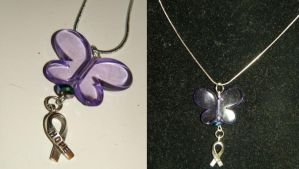 The Fabulous Fibromyalgia Butterfly Necklace by CorterMoon
