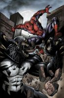 Spiderman vs Venom 3 Doria by juan7fernandez