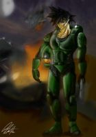 Goku x Halo makes Chief by Rivalhopeso
