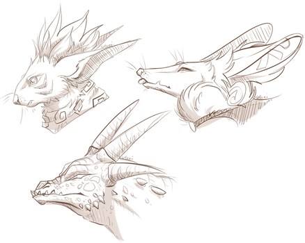 Multiple Sketches by Uluri