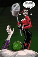 Stephen King mash-up, Joker Harley Quinn in Misery by Nick-Perks