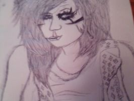 Andy Sixx drawing by YouWillHugMe