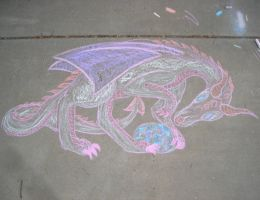 Chalk Dragon by GoldFox20