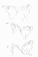 Feet Blind Contour by the-edude