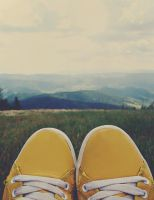 ID - sneakers in mountains by sourissou