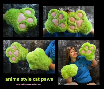 Anime style cat paws by stuffedpanda-cosplay
