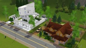 Sims 3 two houses by RamboRocky