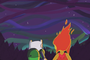 Finn And Flame Princess by DeathBeconsMyName