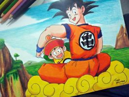Goku and Gohan - DBZ by Tiag0Henrique