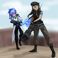 Human Vinyl and Octavia Team by bigfatal21