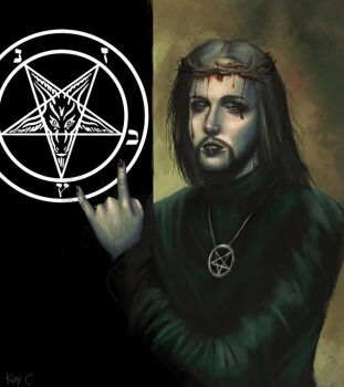 teach jesus to worship satan by xiaomeimei
