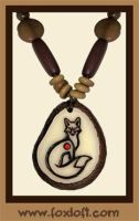 Fox Tagua Pendant - New Style by Foxfeather248