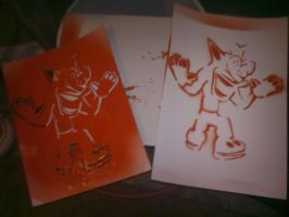 My print of Crash by Master-wolf149