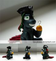MLP Silent Grass FIMO by Qucykowa
