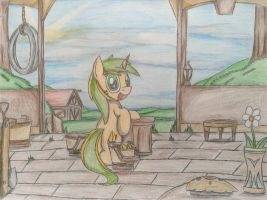 MLP: Golden Peach at the farm by Paladin360