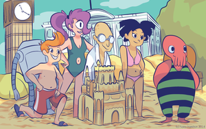 Screencap Redraw: Futurama by MaryAQuiteContrary
