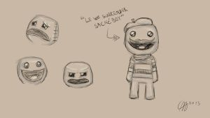 Sackboy sketches by Apples-Malus