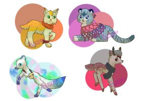 Animal Adopts *open* by livesfordrawings